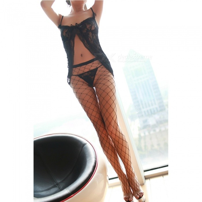 Buy Fanshimite Sexy Mesh Stockings for Women - Black with Litecoins with Free Shipping on Gipsybee.com