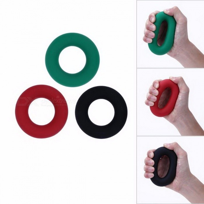 35KG Strength Hand Grip, Muscle Power Training Rubber Easy Carrier, Hand Fitness Ring Exerciser Expander Gripper Black