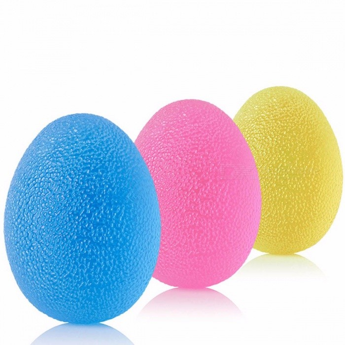 Portable Silicone Egg Massage Hand Expander Gripper, Strength Stress Relief Ball Forearm Finger Exercise Equipment Blue