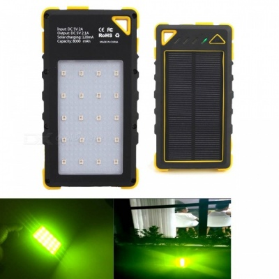 565nm Multifunction Portable USB Charging Power Bank with Mosquito Repellent Lamp for Outdoor Camping - Black + Yellow