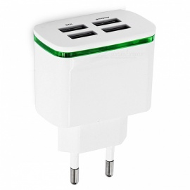 Cwxuan Universal 4-Port USB Charger Adapter, 5V 4A LED
