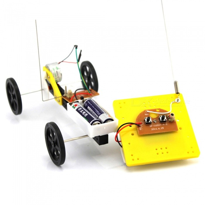 Handmade DIY 2-Way Remote Control Car Puzzle Creative Toy for KidsEducational Toys<br>Form  ColorBlack + YellowMaterialABS plasticQuantity1 DX.PCM.Model.AttributeModel.UnitSuitable Age 5-7 years,8-11 years,12-15 yearsPacking List1 x DIY kit remote control car<br>