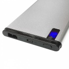 Universal Super Slim 0.98cm 12000mAh 5V 2.1A Power Bank for Mobile Phone - Silver
