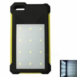 Ismartdigi-Universal-12-LED-8000mAh-5V-2A-Power-Bank-with-Solar-Charge-for-Mobile-Phone-Yellow
