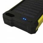 Ismartdigi Universal 12-LED 8000mAh 5V 2A Power Bank with Solar Charge for Mobile Phone - Yellow
