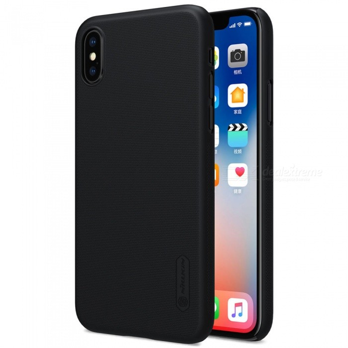 NILLKIN PC Hard Plastic Cover Case for IPHONE X - BlackPlastic Cases<br>Form  ColorBlackModelNIPHX00HD01Quantity1 DX.PCM.Model.AttributeModel.UnitMaterialPlasticCompatible ModelsiPhone XDesignSolid Color,MatteStyleBack CasesPacking List1 x NILLKIN Super Frosted Shield1 x Screen Protector<br>