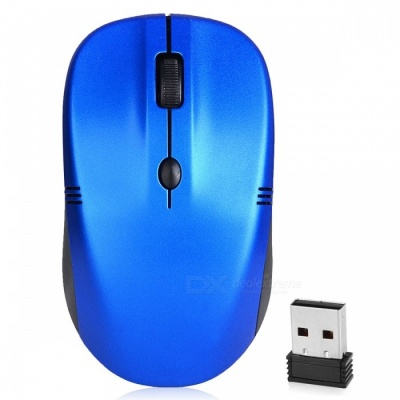 RF-5085 Mini 2.4G Wireless Optical Mouse for for Notebook Desktop Computer - Blue