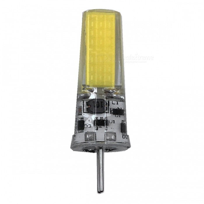 ZHAOYAO GY6.35 5W AC/DC-12V COB LED Light Silicone Lamp - White LightOther Connector Bulbs<br>Color BINCold White - 1pc MaterialSiliconeForm  ColorWhiteQuantity1 DX.PCM.Model.AttributeModel.UnitPower5WRated VoltageOthers,AC/DC-12V DX.PCM.Model.AttributeModel.UnitConnector TypeOthers,GY6.35Chip Type2508Emitter TypeCOBTotal Emitters1Actual Lumens250-450 DX.PCM.Model.AttributeModel.UnitColor Temperature6000KDimmableNoBeam Angle360 DX.PCM.Model.AttributeModel.UnitOther Features5500-7000KPacking List1 x LED<br>
