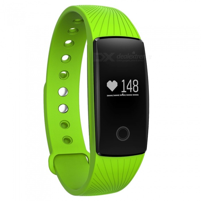 Eastor V05C IP65 Waterproof Bluetooth V4.0 Smartband Bracelet w/ Sedentary Reminder, Sleep Monitor, Pedometer - GreenSmart Bracelets<br>Form  ColorGreenModelV05CQuantity1 DX.PCM.Model.AttributeModel.UnitMaterialABSShade Of ColorGreenWater-proofIP65Bluetooth VersionBluetooth V4.0Touch Screen TypeYesOperating SystemNoCompatible OSAndroid iOSBattery Capacity70 DX.PCM.Model.AttributeModel.UnitBattery TypeLi-polymer batteryStandby Time1200 DX.PCM.Model.AttributeModel.UnitPacking List1 x Smart band1 x Charging Cable (15cm)<br>