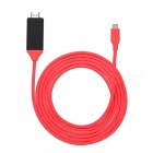 Kitbon-USB-31-Type-C-USB-C-to-HDMI-HD-Video-Cable-Adapter-for-MacBook-Samsung-S8-LUMIA-950-Red