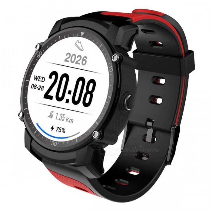 FS08 IP68 Waterproof 1.26 Smart Watch with Heart Rate Monitoring, Multiple Sports Modes, GPS - RedSmart Watches<br>Form  ColorRed + MulticoloredForm  ColorRedQuantity1 DX.PCM.Model.AttributeModel.UnitMaterialPVD + plasticShade Of ColorRedCPU ProcessorMTK2503Screen Size1.26 DX.PCM.Model.AttributeModel.UnitScreen Resolution320*320Bluetooth VersionBluetooth V4.0Compatible OSSupport Android 5.0 or above, support ISO 8.0 or aboveLanguageEnglishWristband Length22 DX.PCM.Model.AttributeModel.UnitWater-proofIP68Battery ModeNon-removableBattery TypeLi-polymer batteryBattery Capacity450 DX.PCM.Model.AttributeModel.UnitStandby Time2-5 DX.PCM.Model.AttributeModel.UnitPacking List1 x Smart watch1 x User manual1 x USB cable<br>