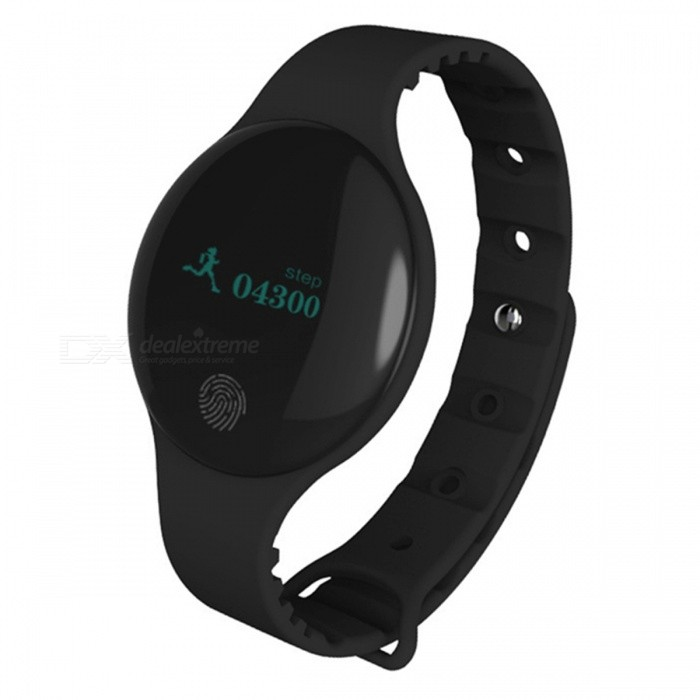 Maikou H8 IP66 Waterproof 0.66 OLED Bluetooth Smart Bracelet - BlackSmart Bracelets<br>Form  ColorBlackModelH8Quantity1 DX.PCM.Model.AttributeModel.UnitMaterialABSShade Of ColorBlackWater-proofIP66Bluetooth VersionBluetooth V4.0Operating SystemAndroid 4.0.1,Mac OSCompatible OSAbove Android 4.4IOS 7 and AboveBattery Capacity50 DX.PCM.Model.AttributeModel.UnitBattery TypeLi-polymer batteryStandby Time15 DX.PCM.Model.AttributeModel.UnitPacking List 1 x Bracelet 1 x Data cable 1 x English manual<br>