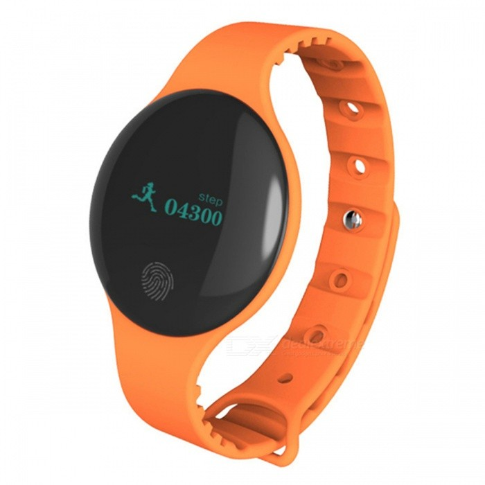 Maikou H8 IP66 Waterproof 0.66 OLED Bluetooth Smart Bracelet - OrangeSmart Bracelets<br>Form  ColorOrangeModelH8Quantity1 DX.PCM.Model.AttributeModel.UnitMaterialABSShade Of ColorOrangeWater-proofIP66Bluetooth VersionBluetooth V4.0Operating SystemAndroid 4.0.1,Mac OSCompatible OSAbove Android 4.4IOS 7 and AboveBattery Capacity50 DX.PCM.Model.AttributeModel.UnitBattery TypeLi-polymer batteryStandby Time15 DX.PCM.Model.AttributeModel.UnitPacking List1 x Bracelet1 x Data cable1 x English manual<br>