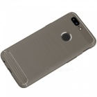 ASLING Protective Carbon Fiber TPU Soft Cover for OnePlus 5T - Grey