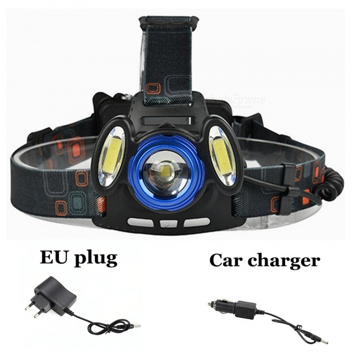 ZHAOYAO-XM-L-T6-COB-Waterproof-3-LED-3-Mode-Zooming-Rechargeable-Headlight-with-US-Charger-2b-Car-Charger