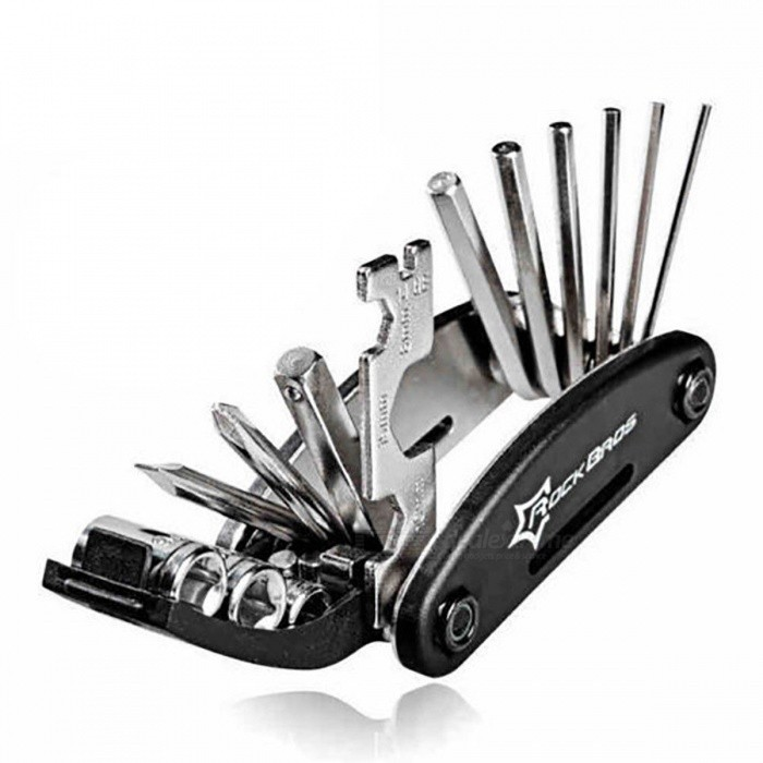Buy ROCKBROS 16-in-1 Bike Bicycle Tool Set Mountain Bike Multi Repair Tool Kit Hex Spoke Wrench Mountain Cycle Screwdriver Tool GJ1601 with Litecoins with Free Shipping on Gipsybee.com