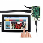 "Waveshare 7"" 1024x600 HDMI LCD with Toughened Glass Cover, Supports Multi mini-PCs, Multi Systems"