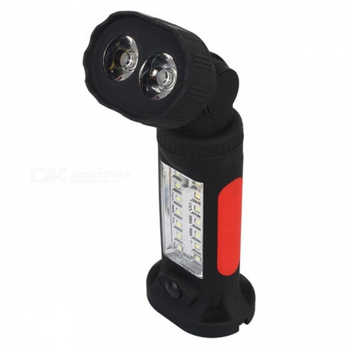 P-TOP 3W Multi-function Strong Magnetic Stone Flashlight Torch, Hanging LED Tent Light for Outdoor CampingOutdoor Lantern<br>Form  ColorDark red + BlackQuantity1 DX.PCM.Model.AttributeModel.UnitMaterialPlasticEmitter BINLEDNumber of EmittersOthers,16Color BINWhiteBattery TypeAAABattery Number4Battery included or notNoNumber of Modes2Actual Lumens150 DX.PCM.Model.AttributeModel.UnitLantern TypeOthers,-Packing List1 x Flashlight<br>
