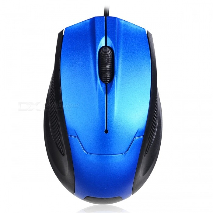 FC-3012 Portable Mini Optical USB Wired Mouse for Laptop Computer - Blue
