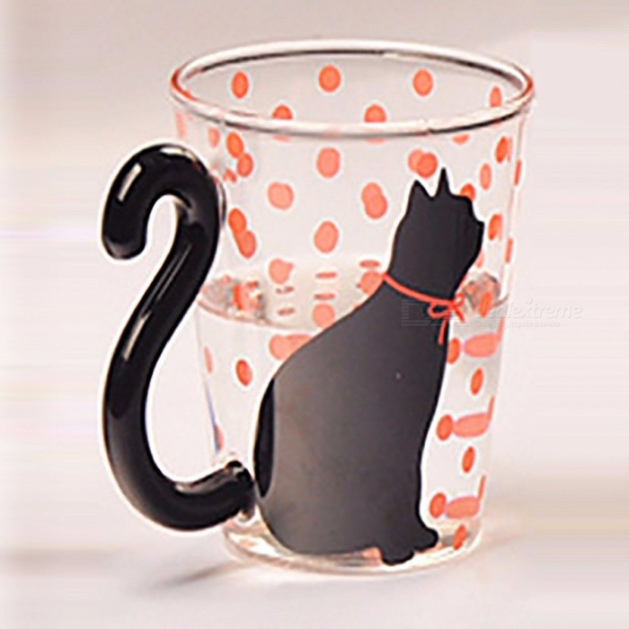 Coffee | Office | Glass | Home | Mug | Cup | Dot | Cat | Red