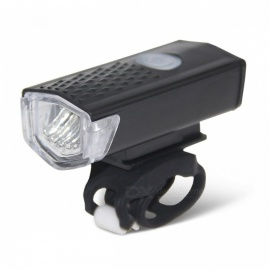 300LM USB Rechargeable 3-Mode LED Bicycle Bike Flashlight Lamp, Cycling MTB Front Light Headlight Black
