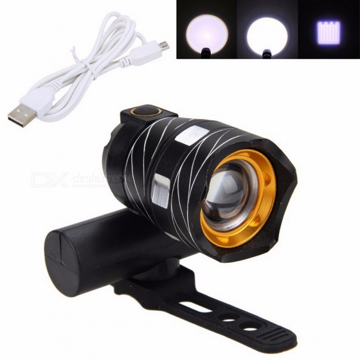 LED USB Rechargeable Waterproof Bycicle Light Headlamp Headlight Bike Front Lamp