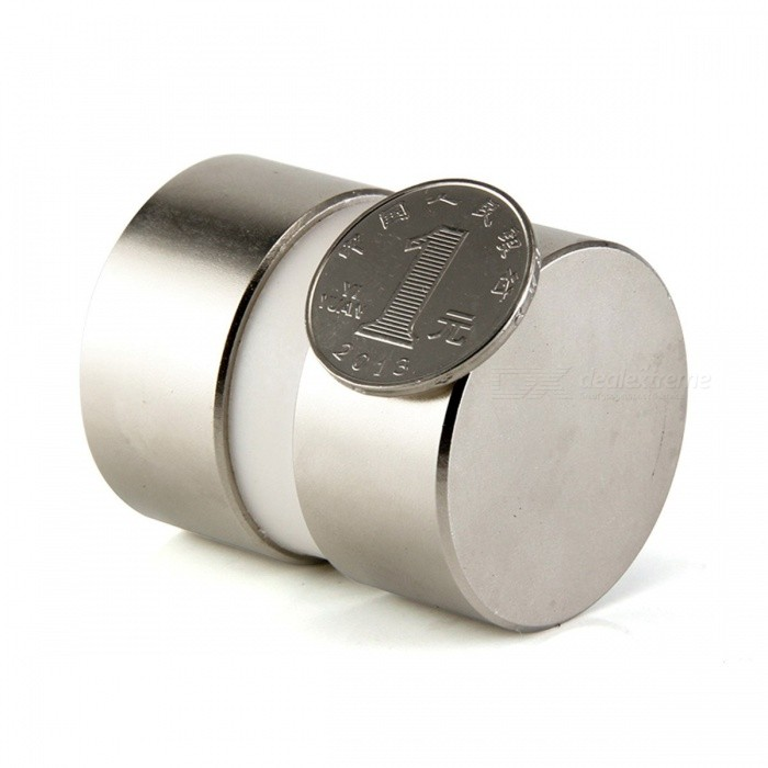 Buy 2Pcs Mini Super Strong Powerful Dia 40mm x 20mm Neodymium Magnets, 40x20 Rare Earth NdFeB N52 Disc Magnets Silver with Litecoins with Free Shipping on Gipsybee.com