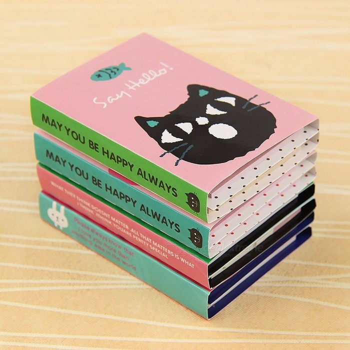 1Pc Creative 180 Pages Sticker Mini Animal Sticky Note, 4-Folding Memo Pad Gift School Stationery Supplies random