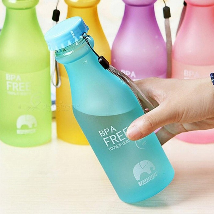 Candy Colors Unbreakable Frosted Portable Water Bottle Leak-proof 550mL BPA Free Plastic Kettle for Travel Yoga Running Camping Green/501-600ml for sale in Bitcoin, Litecoin, Ethereum, Bitcoin Cash with the best price and Free Shipping on Gipsybee.com