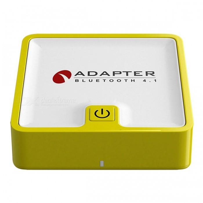 BTI-039 Transmitter Two In One 3.5mm Portable Bluetooth Wireless Receiver Audio Adapter - YellowBluetooth &amp; IrDA<br>Form  ColorYellow + White + Multi-ColoredQuantity1 DX.PCM.Model.AttributeModel.UnitMaterialABSShade Of ColorYellowBluetooth VersionOthers,Bluetooth V4.1Operating Range10 DX.PCM.Model.AttributeModel.UnitBattery TypeLi-polymer batteryBuilt-in Battery Capacity 350 DX.PCM.Model.AttributeModel.UnitPacking List1 ? Bluetooth 4.1 Transmitter and Receiver1 ? Micro USB Cable1 ? 3.5mm Aux Cable1 ? Digital Optical TOSLINK Cable1 ? RCA Cable1 ? User Manual<br>