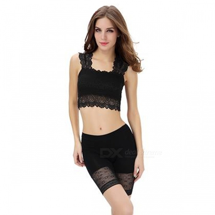 Buy Fanshimite Women's Sexy Lace Bra - Black with Litecoins with Free Shipping on Gipsybee.com