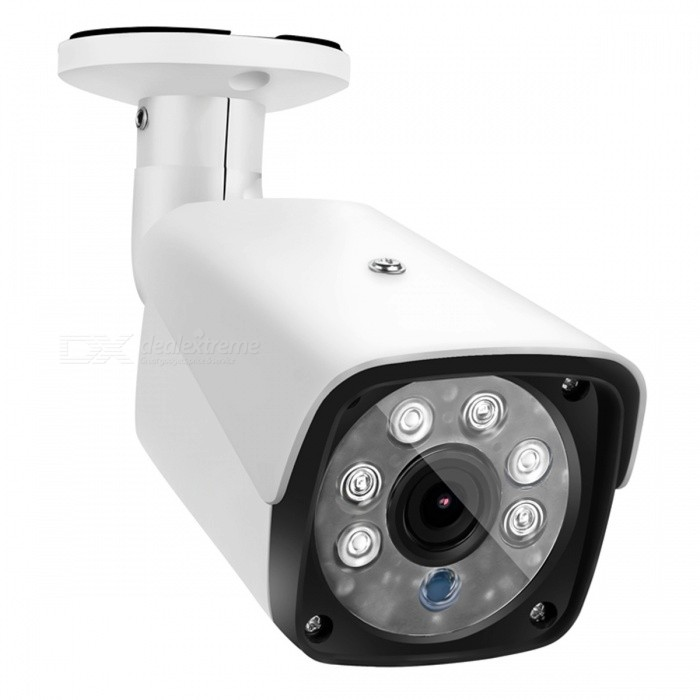 COTIER 1080P 2.0MP Bullet Security CCTV Camera with 1/2.7 CMOS 3.6mm Lens for DVR Surveillance System - White (US Plug)CCTV Cameras<br>Form  ColorWhite + BlackModelTV-633H2/AMaterialAluminum alloyQuantity1 DX.PCM.Model.AttributeModel.UnitImage SensorCMOSImage Sensor SizeOthers,1/3 inchesPixels2.0MP 1080PPicture Resolution1920?1080Lens3.6mmViewing Angle90 DX.PCM.Model.AttributeModel.UnitVideoAVIDaytime30Electronic Shutter Speed1/50s~1/100,000sMinimum Illumination0.01Lux@F1.2(AGC ON), 0.01Lux IR onImaging ColorColor,Black and whiteInterfacesCVBSNight VisionYesIR-LED Quantity6Night Vision Distance30 DX.PCM.Model.AttributeModel.UnitVideo SystemNTSCSNR50dBWater-proofYesBracket YesPower AdaptorYesPower AdapterUS PlugRate Voltage12VRated Current1 DX.PCM.Model.AttributeModel.UnitFunctionIR,Day / night switch,Wide dynamic range (WDR)CertificationCE ROSHForm  ColorWhite (US Plug)Packing List1 x Camera1 x Power Adapter1 x Screw package1 x Manual<br>