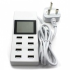 P-TOP-8-Port-USB-Travel-Charger-Smart-Charging-Station-w-LCD-Digital-Display-UK-Plug