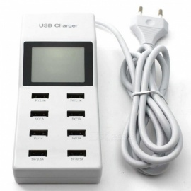 P-TOP-8-Port-USB-Travel-Charger-Smart-Charging-Station-w-LCD-Digital-Display