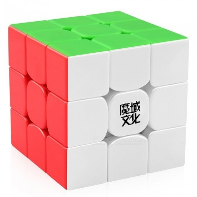 MoYu Weilong GTS2 3x3x3 Smooth Speed Magic Cube Finger Puzzle Toy 56mm - Colorful