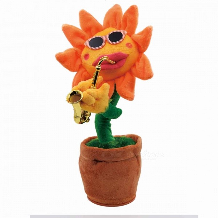 Dancing Sunflowers Shape Doll Toy w/ Pointed Edge for Home Decoration - Orange + RedDolls and Stuffed Toys<br>ColorOrange + Red (Pointed Edge) MaterialN/AQuantity1 DX.PCM.Model.AttributeModel.UnitSuitable Age 3-6 months,6-9 monthsPacking List1 x Flower Doll Toy<br>