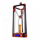 FLSUN 3D Printer Delta Kossel DIY Kit with Large 3D Printing Size Updated Nuzzle System Heated Bed Auto Leveling - US Plug