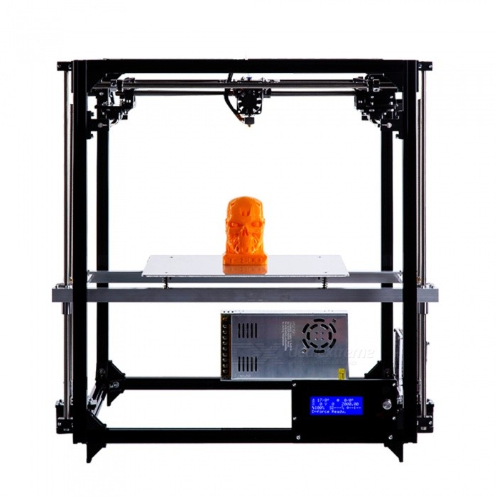 Flsun 3D Printer DIY Kit Auto Leveling Cube Full Metal Square Large Printing Size 260X260X350 with Heated Bed Precision3D Printers, 3D Printer Kits<br>ColorBLACKPower AdapterUKBundlesStandardModelFQuantity1 DX.PCM.Model.AttributeModel.UnitMaterialFEPacking List1 x 3D Printer DIY Kit<br>