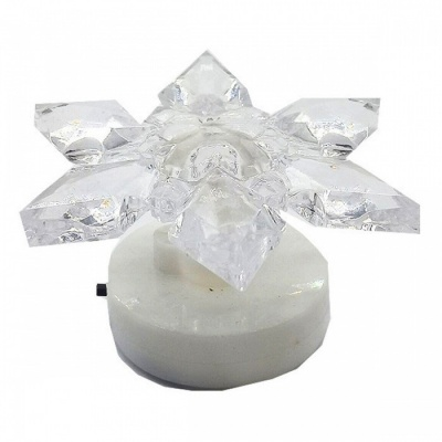 Small Creative Flower Shape Color-Changing Night Light for Festival Holiday Decoration