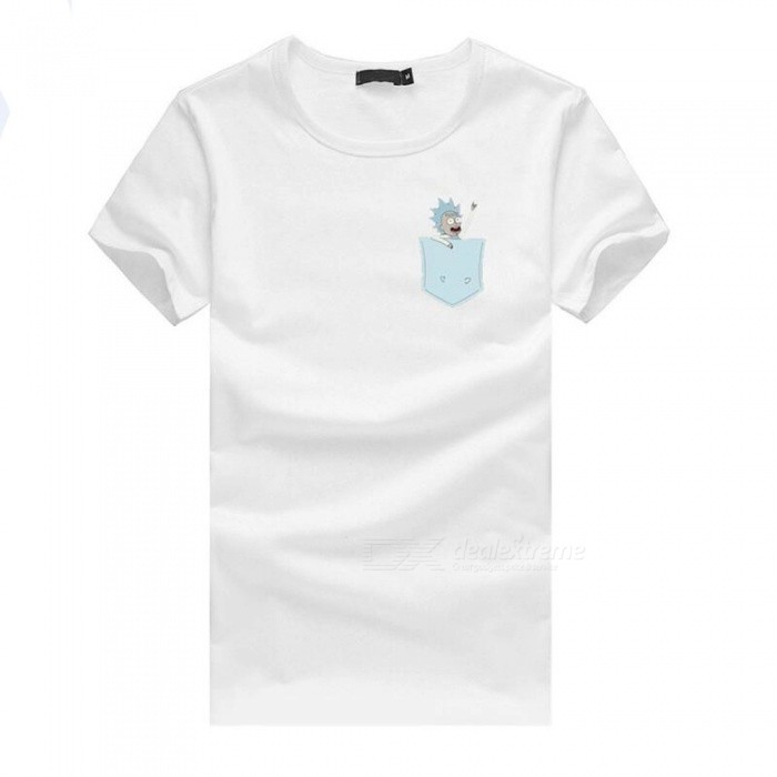 Buy 3D Small Man Style Fashion Personality Casual Cotton Short-Sleeved T-shirt for Men - White (XL) with Litecoins with Free Shipping on Gipsybee.com
