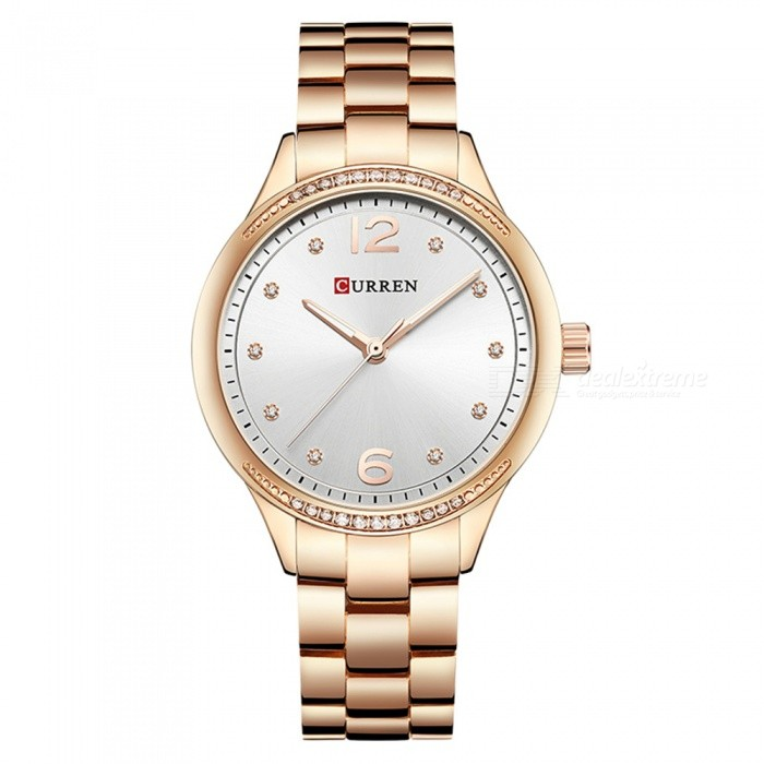 CURREN 9003 Women's Stylish Quartz Watch - Rose Gold + Silver