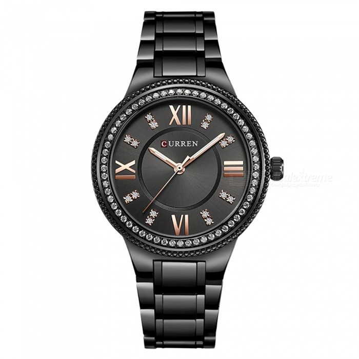 CURREN 9004 Womens Stylish Quartz Watch - BlackQuartz Watches<br>ColorALL BlackModel9004Quantity1 DX.PCM.Model.AttributeModel.UnitShade Of ColorBlackCasing MaterialAlloyWristband Material-Suitable forAdultsGenderWomenStyleWrist WatchTypeFashion watchesDisplayAnalogBacklightNOMovementQuartzDisplay Format12 hour formatWater ResistantFor daily wear. Suitable for everyday use. Wearable while water is being splashed but not under any pressure.Dial Diameter4 DX.PCM.Model.AttributeModel.UnitDial Thickness1 DX.PCM.Model.AttributeModel.UnitWristband Length22 DX.PCM.Model.AttributeModel.UnitBand Width1.5 DX.PCM.Model.AttributeModel.UnitBattery626Packing List1 x Watch<br>