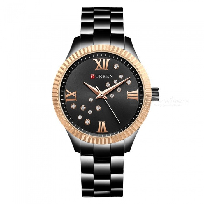 CURREN 9009 Creative Stylish Quartz Watch for Women - Black + Golden