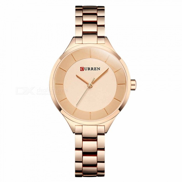 CURREN 9015 Stylish Quartz Watch for Women - Rose GoldQuartz Watches<br>ColorRose GoldModel9015Quantity1 DX.PCM.Model.AttributeModel.UnitShade Of ColorMulti-colorCasing MaterialAlloyWristband Material-Suitable forAdultsGenderWomenStyleWrist WatchTypeFashion watchesDisplayAnalogBacklightnoMovementQuartzDisplay Format12 hour formatWater ResistantFor daily wear. Suitable for everyday use. Wearable while water is being splashed but not under any pressure.Dial Diameter3.5 DX.PCM.Model.AttributeModel.UnitDial Thickness1 DX.PCM.Model.AttributeModel.UnitWristband Length22 DX.PCM.Model.AttributeModel.UnitBand Width1.2 DX.PCM.Model.AttributeModel.UnitBattery626Packing List1 x Watch<br>
