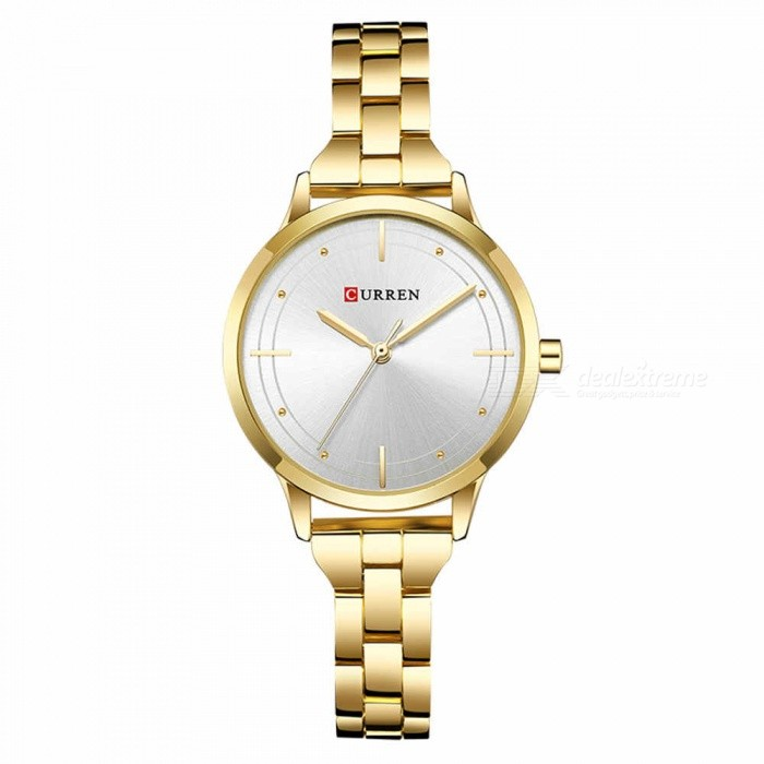 CURREN 9019 Stylish Quartz Watch for Women - Golden + SilverQuartz Watches<br>ColorGolden + SilverModel9019Quantity1 DX.PCM.Model.AttributeModel.UnitShade Of ColorGoldCasing MaterialAlloyWristband Material-Suitable forAdultsGenderWomenStyleWrist WatchTypeFashion watchesDisplayAnalogBacklightnoMovementQuartzDisplay Format12 hour formatWater ResistantFor daily wear. Suitable for everyday use. Wearable while water is being splashed but not under any pressure.Dial Diameter3.5 DX.PCM.Model.AttributeModel.UnitDial Thickness1 DX.PCM.Model.AttributeModel.UnitWristband Length22 DX.PCM.Model.AttributeModel.UnitBand Width1.5 DX.PCM.Model.AttributeModel.UnitBattery626Packing List1 x Watch<br>