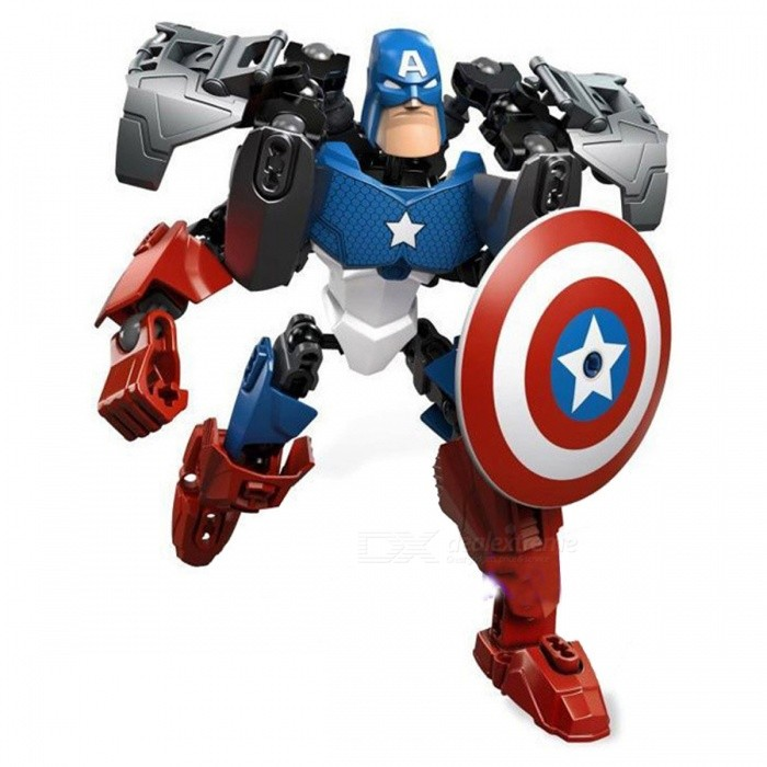 Buy ZHAOYAO Superhero Captain America Model Assembling Building Blocks, Intellect Self-Loading Toy for Kids with Litecoins with Free Shipping on Gipsybee.com