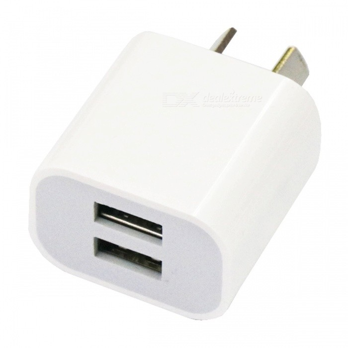 Portable Dual USB 2A Charging Head Power Adapter - AU Plug (AC100-240V)