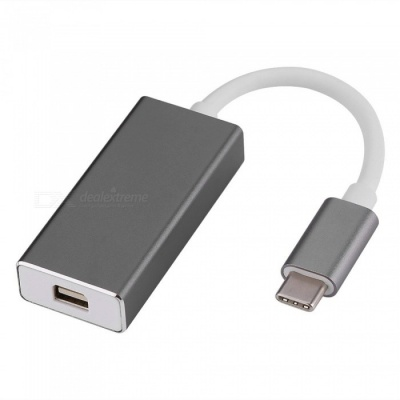 Cwxuan USB 3.1 Type-C to Mini Displayport Adapter Connection Cable - Gray