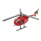DIY Helicopter Style 3D Wooden Puzzle Educational Toy - Red