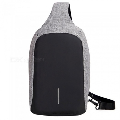 """DTBG M003 Fashionable Waterproof Anti-theft Chest Bag for 7.9"""" IPAD, Suit for Women and Men - Grey"""